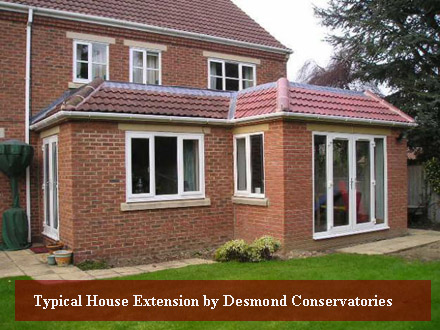 Typical House Ectension by Desmond Conservatories